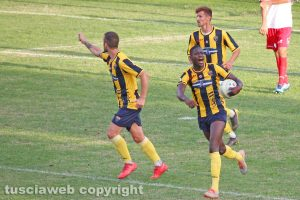 Sport - Calcio - Viterbese - L'esultanza di Mamadou Tounkara
