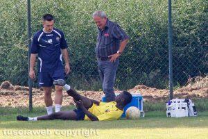 Sport - Calcio - Viterbese - Mamadou Tounkara sdraiato a terra