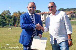 Sport - Calcio - Viterbese - Diego Foresti incontra il sindaco di Latera Francesco Di Biagi