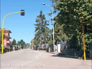 Montefiascone - I semafori installati in via Fiordini