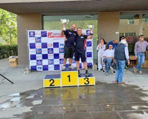 Sport - Motori - Fabrizio Massaini sul podio della cronoscalata della Castellana
