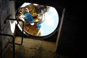 Santa Marinella - Ricognizione Cbrn in un laboradorio clandestino sotterraneo