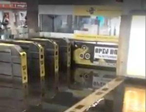 Roma - Metro Colli Albani allagata