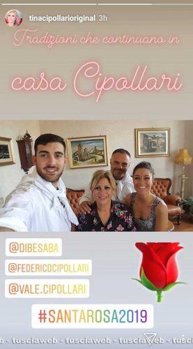 Tina Cipollari a Viterbo per le festività di Santa Rosa