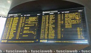 Roma Tiburtina - La tabella dei treni in ritardo