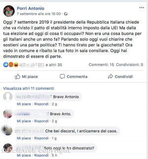 Vasanello - Il sindaco Porri dileggia e attacca il presidente della repubblica Sergio Mattarella
