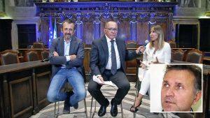 Santa Rosa - La diretta social con Maurizio Donsanti - Nel riquadro il consigliere comunale Gianmaria Santucci