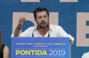 Pontida - Matteo Salvini