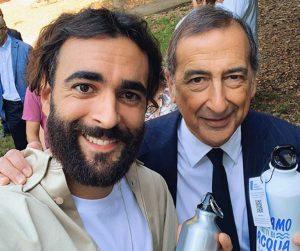 Marco Mengoni e il sindaco di Milano Beppe Sala