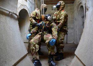Santa Marinella - Squadra di soccorso in ambiente contaminato