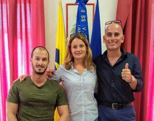 Tiziano Monti e Alfredo Boldorini insieme alla dirigente Laura Pirol