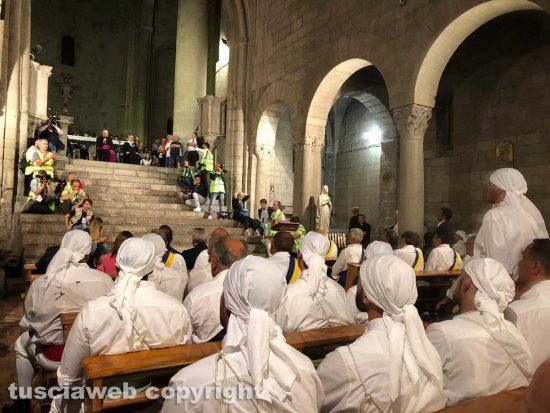 Santa Rosa - i Facchini in chiesa a San Sisto