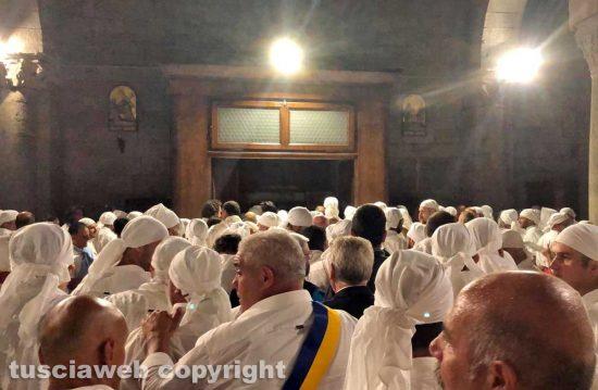 Santa Rosa - i Facchini escono dalla chiesa a San Sisto