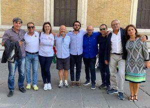 Roma - Lo stato maggiore FdI e Minchella alla manifestazione FdI contro il governo