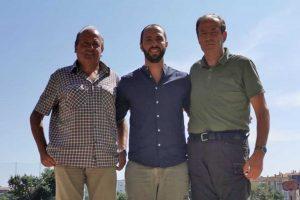 Viterbo - Il delegato allo Sport Matteo Achilli, il presidente della Fidal Viterbo Sergio Buratti e il presidente dell'Aia Viterbo Luigi Gasbarri