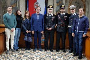 Andrea Antonazzo in visita a Orte