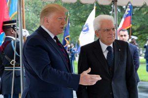 Washington - Il presidente Donald Trump incontra il presidente della repubblica Sergio Mattarella