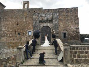 Lo shooting sugli abiti da sposa a Celleno