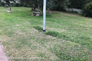 Viterbo - Il giardino in largo San Bernardino da Siena