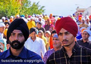 Viterbo - La marcia dei sikh