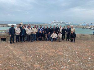 Piloti brasiliani in visita al porto di Civitavecchia