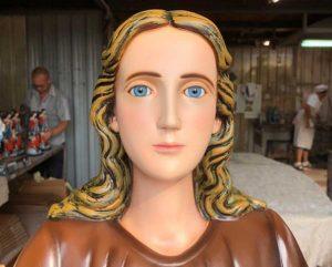 Viterbo - La statua di Santa Rosa che sarà donata alla parrocchia del Sacro Cuore