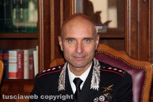 Il colonnello Andrea Antonazzo, comandante provinciale dei carabinieri di Viterbo