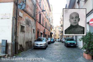 Viterbo - Via della Pettinara - Nel riquadro Giovanni Maria Farina