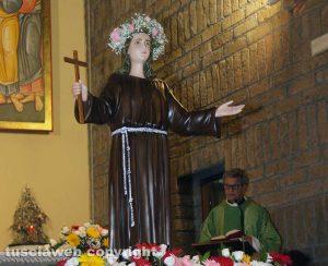 Viterbo - La donazione della statua di Santa Rosa al quartiere Pilastro