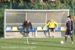 Sport - Calcio - Viterbese - L'allenamento di ieri - Toni Markic e Francesco Cusi