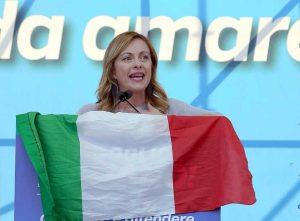 Roma - Giorgia Meloni a piazza San Giovanni