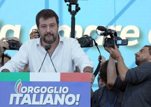 Roma - Matteo Salvini - Manifestazione della Lega