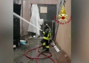 Torino - Incendio nella Cavallerizza reale