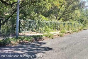 Viterbo - Il marciapiede lungo la Palanzana