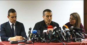 Roma - Conferenza stampa della famiglia Sacchi