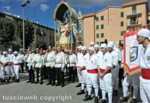 Piansano - Patto di fratellanza fra i facchini di Santa Rosa e quelli della Madonna del rosario
