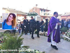 Viterbo - I funerali di Jessica Bussi