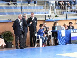 Fabrica di Roma - Gara internazionale di judo - Il presidente Maccaro e la giuria