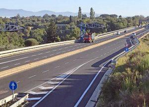 Il tratto della Superstrada libero dal cantiere