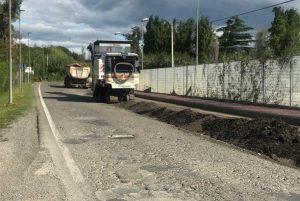 Viterbo - Lavori in corso a strada Bagni