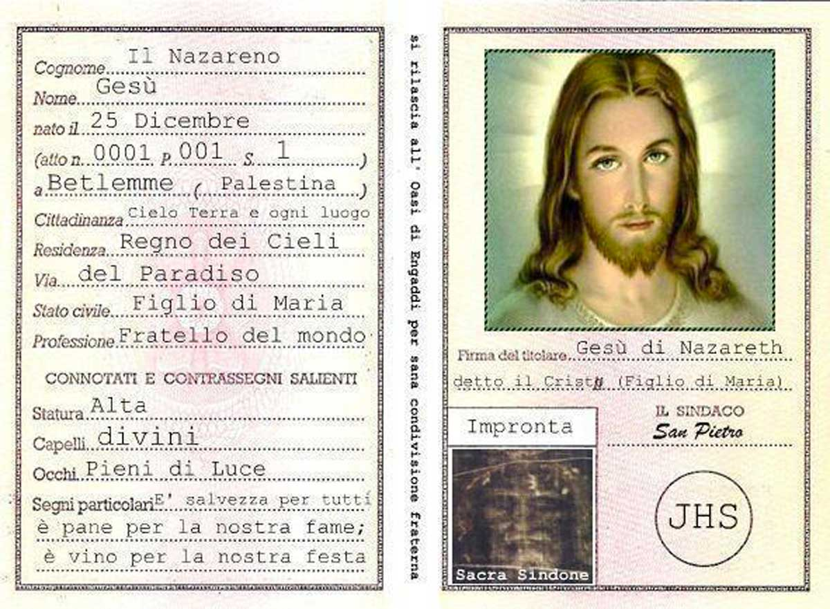 La carta d'identità di Gesù: il post virale di Radio Maria