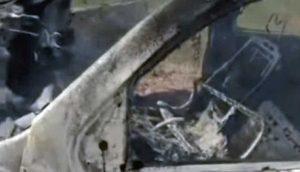 Messico, una delle auto bruciate