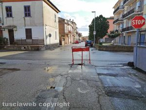 Tuscania - Degrado in via Cesare Battisti