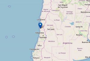 Santiago - La zona interessata dalla scossa di terremoto