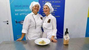 Fiera di Roma - Paola Fabbri e Giulia Malfatani dell'alberghiero di Montalto di Castro alla manifestazione Mercato Mediterraneo