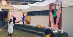 Priverno - Il murales contro il femminicidio