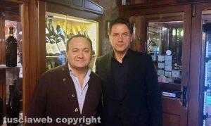 Massimo Mechelli e Giuseppe Conte alla Baita La Faggeta