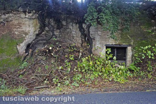 Vetralla - Il crollo di una parete a Foro Cassio