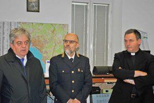 Civitavecchia - Il questore di Roma Carmine Esposito in visita al commissariato di pubblica sicurezza