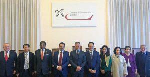 Viterbo - Una delegazione di ambasciatori della comunità di Roma dell'Asean alla camera di commercio